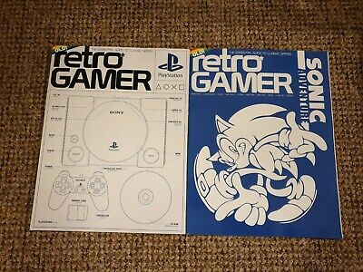 Retro Gamer magazine 188 + 189 PlayStation, Sonic Adventure (subscriber covers)