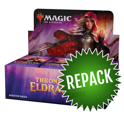 Throne of Eldraine Booster Box Repack! 36 Opened MTG Packs In Box