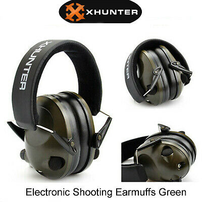 Xhunter Shooting Electronic Earmuffs Foldable 3.5mm Input Jack Ear Muffs Hunting