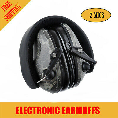 Camo Foldable Shooting Hunting Electronic Earmuffs Input Jack Ear Muffs Xhunter