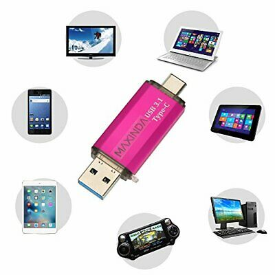 Clé USB 3.0 Type-C à Double Connectique MAXINDA Flash Drive (64 Go|Rose)