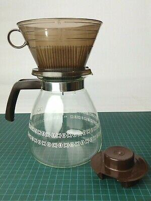 Vintage Melitta No. 6 Pour Over Coffee Maker w/ 8 Cup Glass Pot Made in USA
