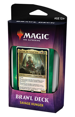 Throne of Eldraine Brawl Deck SAVAGE HUNGER MAGIC MTG IN HAND