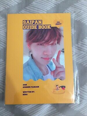 Official Suga Yoongi Guide Book from BTS Summer Package in Saipan 2018
