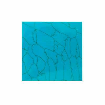 "Light Vein Turquoise Reconstituted Stone Inlay Blank - 50x50x1.5mm (2x2x0.06"")"