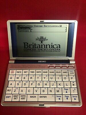 SEIKO ER-9000 Oxford Britannica Handheld Electronic Reference Library Free post!