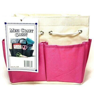 "Allary Style #1630 Mini Craft Caddy, 7""x4""x7"", Pink"
