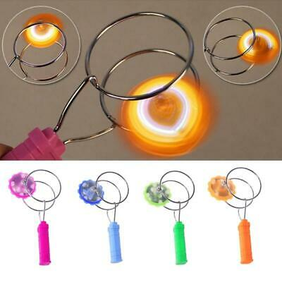 LOT OF 12X Magnetic Gyro Wheel Light Up Hand Coordination Science Toy