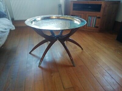 Chinese Brass Tray Table circa 1950.