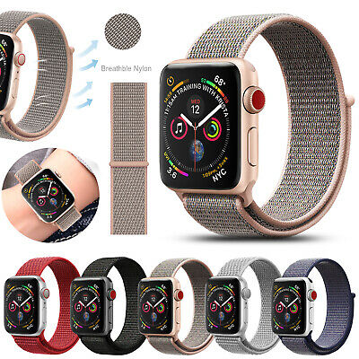Sports Loop Watch Band Nylon Strap for Apple iWatch Series 5 4 3 2 1 38-44mm