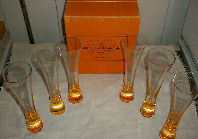 Veuve Clicquot Ponsardin Champagne Trendy Flutes Glass Box Of 6