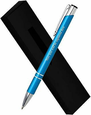Personalised Engraved Luxury Metal Pen Comes In Gift Box + Black Ink Refill