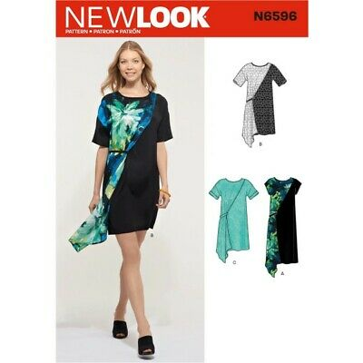 New Look Sewing Pattern 6596 Women's Loose-Fitting Dress with Overlay