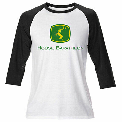 Mens Game Of Thrones Long Sleeve House Baratheon Deere T Shirt Lannister Dragons