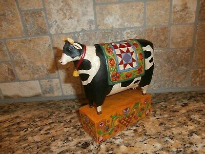 """Jim Shore Cow- Heartwood Creek 2003 """"A Grand Tradition"""" Quilt Blanket Saddle"""