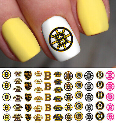 Boston Bruins Hockey Nail Art Decals - Salon Quality!