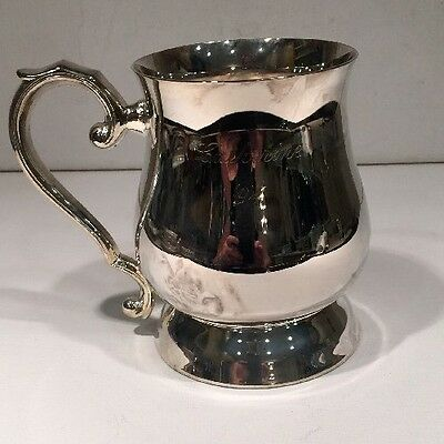 Silver plated 1 Pint Georgian Tankard Made In China Collectible