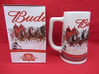 Budweiser Holiday Christmas Stein-2011 Beer Mug Clydesdale-Annual