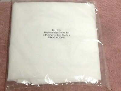 Two (2) Each Bed Wedge Covers Pillow Replacement ~ Wedge Pillowcases