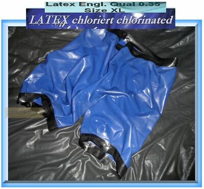 UNIKAT XL Luxus Latex Gummihose chloriert Latex Shorts Latex Bloomers