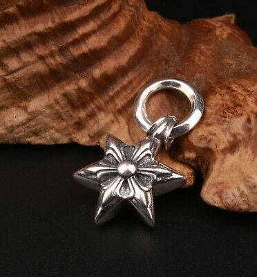Rare Genuine 925 Silver Pendant Statue Hexagonal Star Solid Fashion Souvenir Old