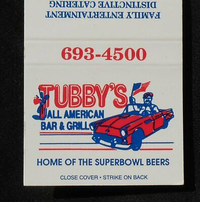 1980s? Tubby's All American Bar & Grill Superbowl Beers Aurora CO Adams Co MB
