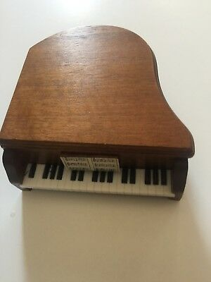 MINIATURE PIANO Mid century modern WOOD coaster set