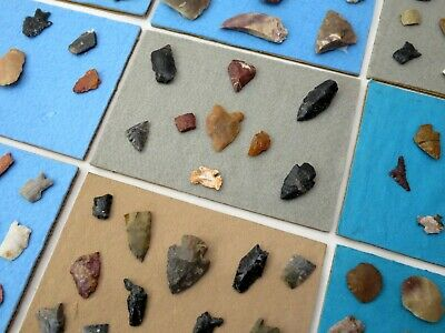 98 PIECE AUTHENTIC INDIAN ARTIFACT LOT; Arrowheads Tools Paleo Archaic Point NR