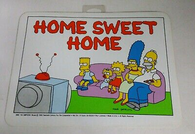 Vintage 1990s The Simpsons Home Sweet Home Plastic Sign NOS 11x8 FOX N4A