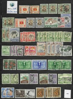 WC1_3486 BRITISH COLONIES. CEYLON. Dealer stock of 1949-1963 stamps. MH-MNH/Used