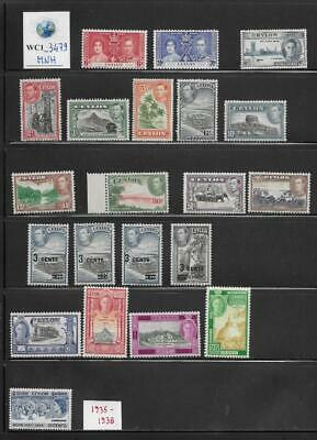 WC1_3479 BRITISH COLONIES. CEYLON. Dealer stock of useful 1935-1938 stamps. MNH