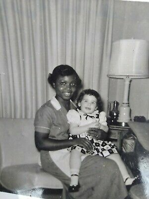 Rare Segregation photo African American Nanny holding a white baby