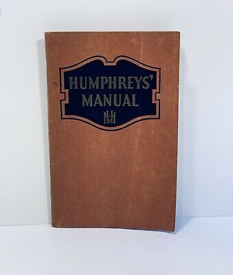 Humphreys Homeopathic 1935 Medicine Co Manual Ailments Humphrey's 77 Advertising