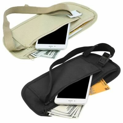 Slim Travel Hidden Secret Security Money Body Waist Pouch Wallet Bag Portable