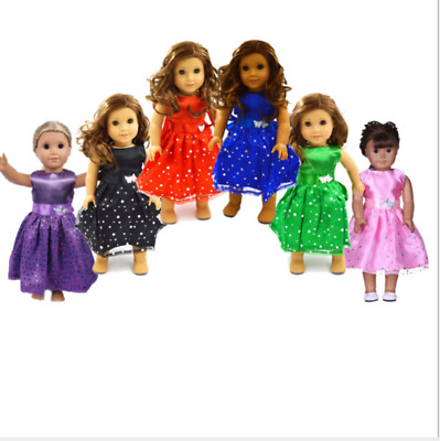 For 18-inch American Girl Doll Clothes Handmade  Doll Dress Accessories