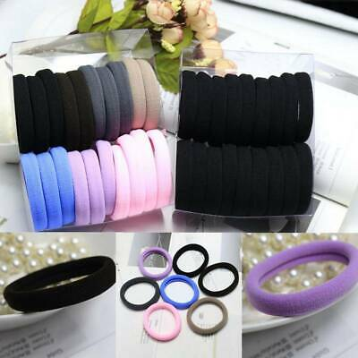 20x HAIR ELASTICS BOBBLES  BAND ENDLESS WOMEN GIRL SCHOOL ELASTIC HAIRBAND Shns