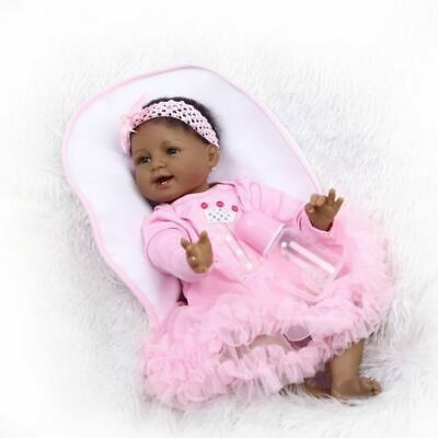 Biracial Baby Doll Reborn Baby Dolls Girl Silicone African American Newborn Gift
