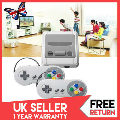 HDMI Retro Game Console TV Built-in 621 Games for Super Nintendo+2 Controller UK