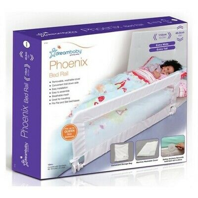 NEW Dreambaby Phoenix Bed Rail / Kids Bed Guard Folding Extra Wide White