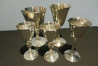 Five Assorted Silver Plated Goblets