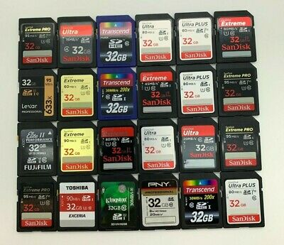 SanDisk Ultra Extreme Plus Pro Generic 2/4/8/16/32/64/128/256 GB SD Memory Cards
