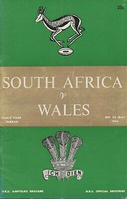 May 64 SOUTH AFRICA v WALES