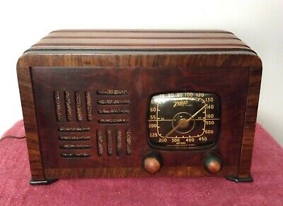 Vintage Zenith Tube Radio 6D538 Working Condition, Toaster