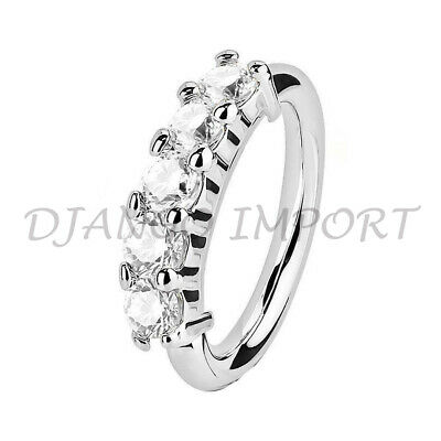 Clear Crystal Diamante Cartilage Earring,Cartilage Tragus Nose Hoop Helix Ring