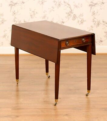 Antique George III Mahogany Pembroke Side Occasional Drop Leaf Table Furniture