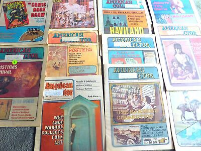 LOT of 12 1970's American Collector Magazines - Advertising