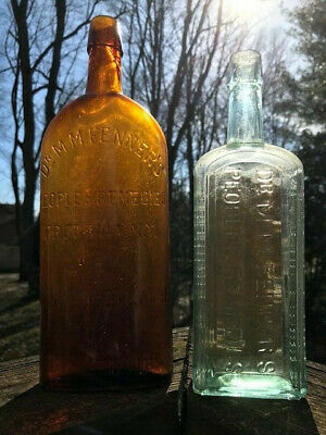 Two Dr. M.M. Fenner's Peoples Remedies, Kidney & Backache, Dyspepsia Bottles