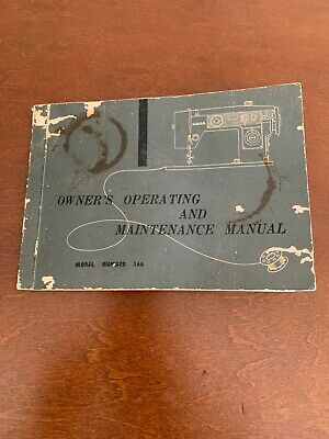 Vintage White Zig-Zag Sewing Machine Model 565 Owners manual