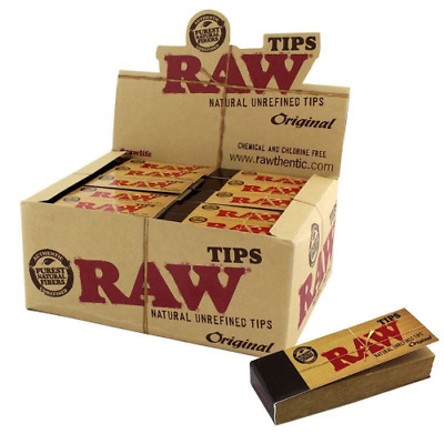 Raw Original Tips Natural Roach Filter 50 Tip Booklet
