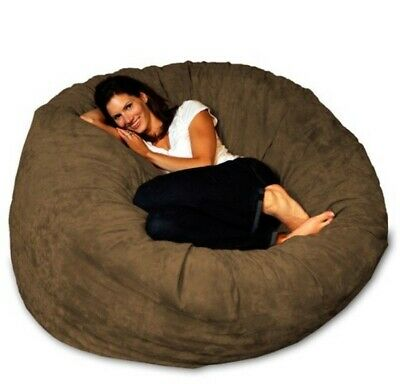 Prime Big Joe Xl Fuf Foam Filled Bean Bag Chair Comfort Suede Theyellowbook Wood Chair Design Ideas Theyellowbookinfo